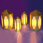 Arabian Lanterns Kit (set of 4)