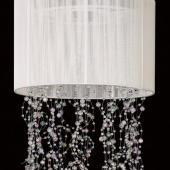 Garland Chandelier w/ White Fabric Shade