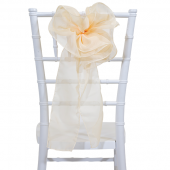 "DecoStar™ 9"" Sheer Flower Chair Accent - Vanilla Cream"
