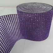 DISCONTINUED ITEM - DecoStar™ Violet Rhinestone Mesh - 30 Foot Roll