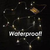 LED Vine Light Strand - Waterproof! Battery Operated. WARM WHITE