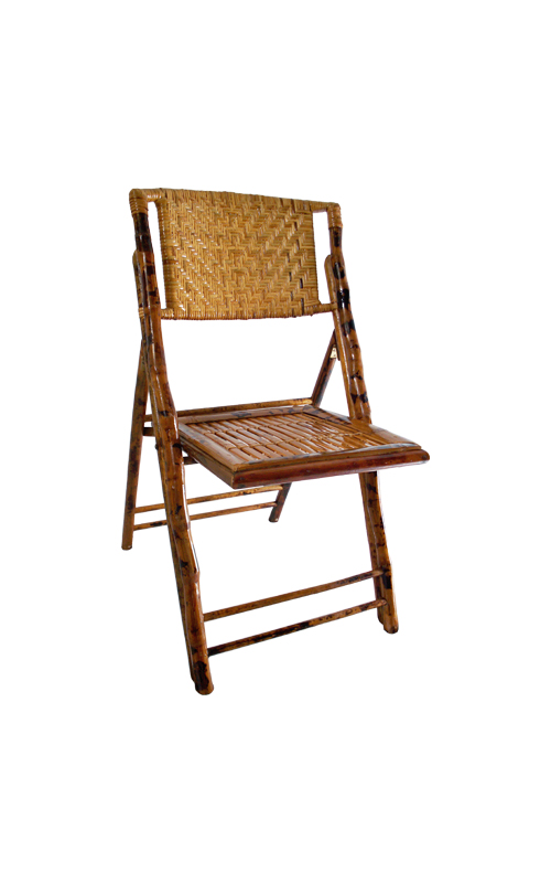 FirmFold™ Weaved Bamboo Folding Chair