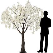 6FT Drooping Cherry Blossom Tree - Floor or Grand Centerpiece - 10 Interchangeable Branches - White