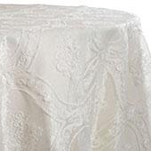 White - Majestic Doar Lace Overlay by Eastern Mills - Many Size Options