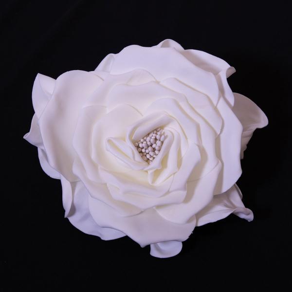 12 decostar deluxe fresh rose foam flower white tap to expand mightylinksfo