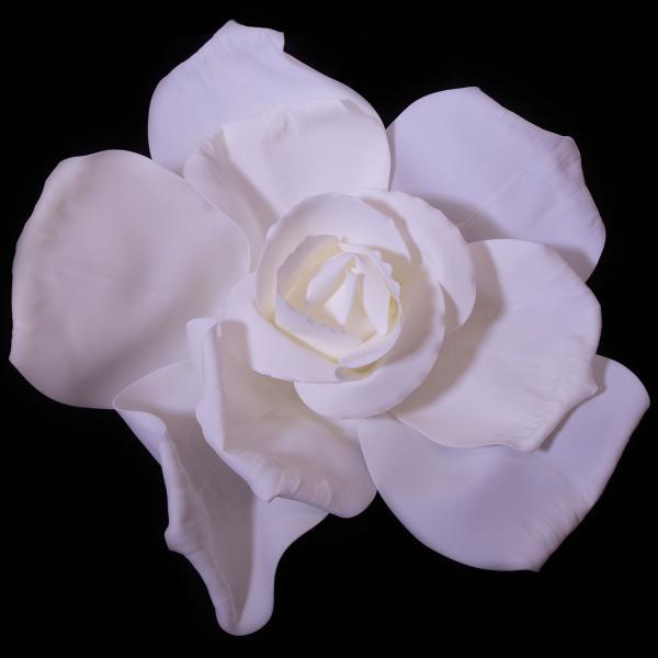 20 Decostar Deluxe Super Rose Foam Flower White