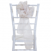 "DecoStar™ 9"" Sheer Flower Chair Accent - White Sand"