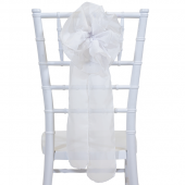 "DecoStar™ 9"" Sheer Flower Chair Accent - White"