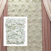 8ft x 8ft Portable Mixed Bright White Floral Backdrop Kit