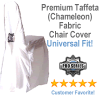 Premium Taffeta (Chameleon) Fabric Chair Cover in White - Universal Fit!