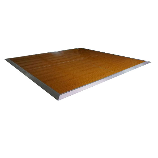 24ft By 24ft Locking Wood Dance Floor Portable With Aluminum Side