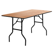 4FT 30X48 Long Plywood Table