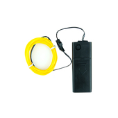 DISCONTINUED ITEM - Battery-Operated Electroluminescent (EL) Wire - 6ft (1.8M) Long - Yellow