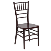 EnvyChair™ Elegant Resin Chiavari Chair - Mahogany